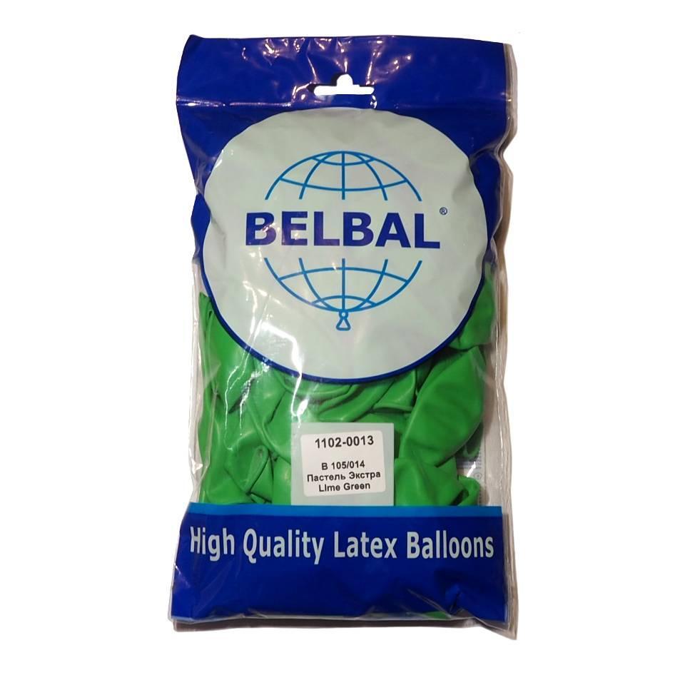 """Лайм 12""""(30 см) пастель  Belbal (упаковка 50 шт)"""