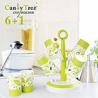 Набор стаканов и подставка  candy tree cup holder