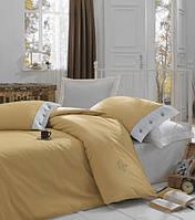 Турецкое постельное бельё евро размера Cotton Box Plain KARAMEL CB06