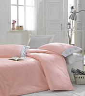 Турецкое постельное бельё евро размера Cotton Box Plain PEMBE CB06