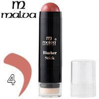 Румяна-стик со спонжем кремовые Malva Blusher Stick M-485 Тон 04 розово натуральные матовые