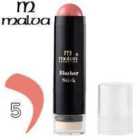 Румяна-стик со спонжем кремовые Malva Blusher Stick M-485 Тон 05 розово лиловые  матовые