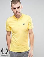 Поло футболка желтая Fred Perry