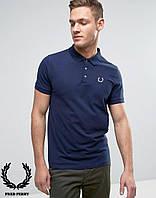 Поло футболка тёмно-синяя Fred Perry