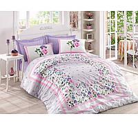 Хлопковый комплект постельного белья ЕВРО размера Cotton Box MESI LILA CB03