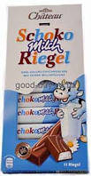 "Шоколад ""Chateau"" Schoko Milch Riegel, молочный с начинкой, 200г"