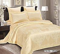 Жаккардовое постельное белье евро размера Arya Жаккардовое постельное белье евро размера Arya Pietra крем AR42