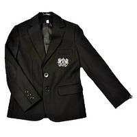Черный клубный пиджак в школу BOZER