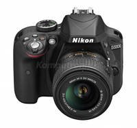 Зеркалки, Nikon D3300 + obiektyw AF-P DX 18-55VR Czarny