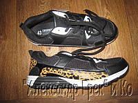 Кроссовки Original League черные со вставками бело-оранжевые пятна, 43
