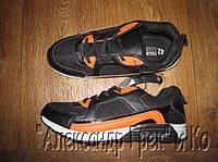Кроссовки Original League черные со вставками оранжевые вставки, 42