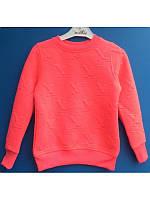 Модный яркий вязаный свитер для девочки  116-152