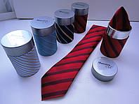 """Набор галстук и костюмный платок в тубе """"Maestro"""""""