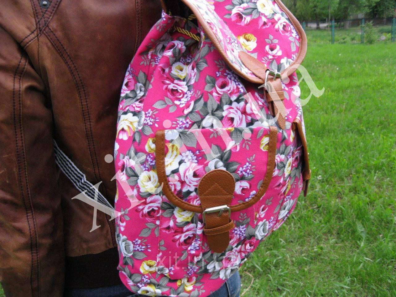 Молодежный рюкзак Цветы