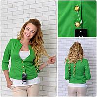 Пиджак мемори (06) зеленый