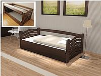 Кровать Колобок из массива бука с подъемным механизмом