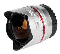 Обьективы, обьектив для фотоапарата, Samyang, 8mm, f/2.8, UMC, Fish-eye, Fuji, X, srebrny