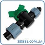 Старт-Коннектор лента/cоединитель для трубки с зажимной гайкой и миникраном DSTZ02-1701L Bradas