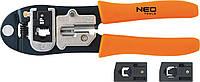 Клещи для обжима телефонных наконечников 4P, 6P, 8 (шт.) NEO (01-501)