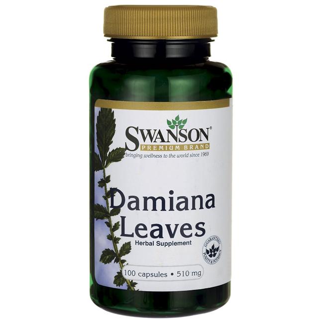 Swanson Premium Damiana АФРОДИЗІАК листя Даміани 510 мг 100 капс