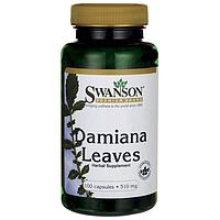 Swanson Premium Damiana АФРОДИЗИАК листья Дамианы 510 мг 100 капс