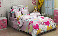 """Комплект постельного белья из бязи ТМ """"Ловец снов"""", Hello Kitty"""