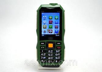 Мобильный телефон Hope S16 зеленый  Land Rover 2 SIM прочный, батарея 10000 mAh