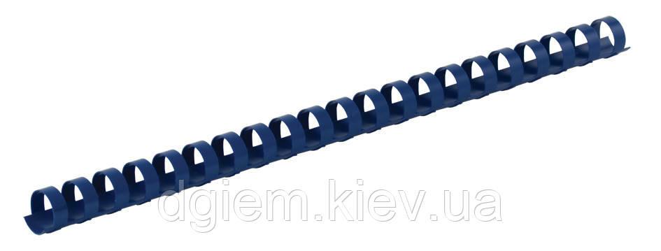 Пружины пластиковые d 19мм синие 100шт