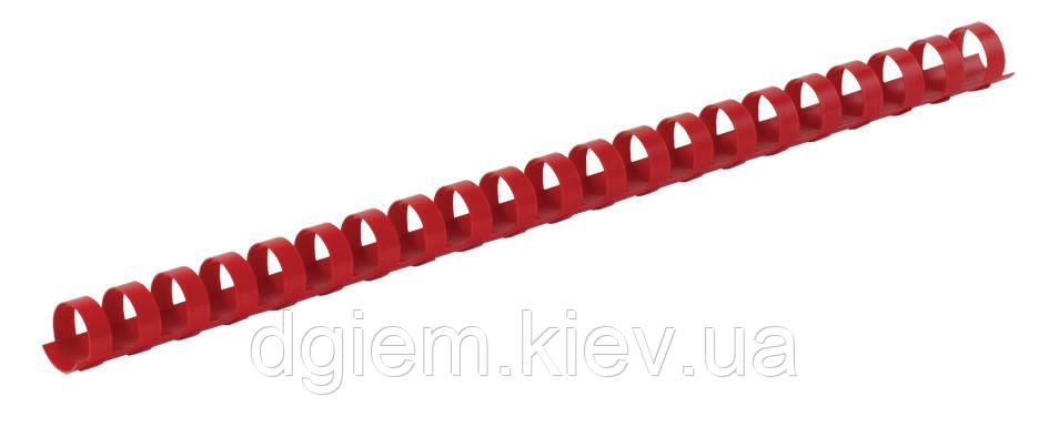 Пружины пластиковые d 19мм красные 100шт