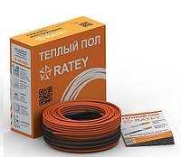 Теплый пол RATEY TIS 0,19, 12 м. (двухжильный нагревательный кабель)