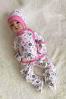 Комплект для новорожденных с распашонкой, штаниками и шапочкой, фото 1
