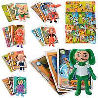 Детские игровые фигурки Набор героев  Барбоскины (6102) -8 видов (7.5см), герой+карточки, 16шт на планшетке