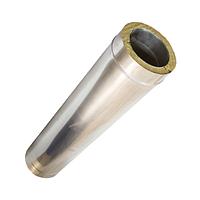 Труба утеплена з нержавіючої сталі жаростійка, H=0.6/0.5, 1м, Ø180