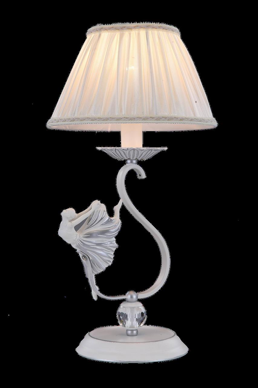 Настольная лампа Colors MT G5573/1SL SJ белый/ткань/хрусталь