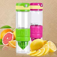 Бутылка (стекло) для самодельных фруктовых напитков. Citrus Zinger