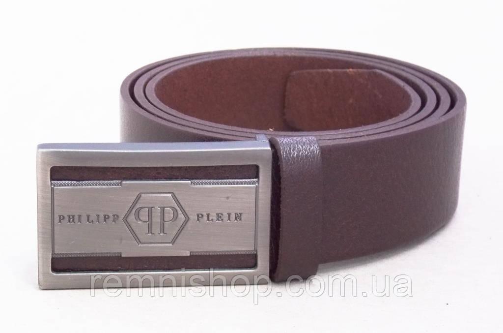 Кожаный коричневый ремень Philipp Plein