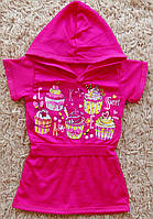 Детская туника из вискозы Пироженки размеры 26