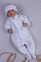 Нарядный комбинезончик на выписку и крещение для новорожденного.