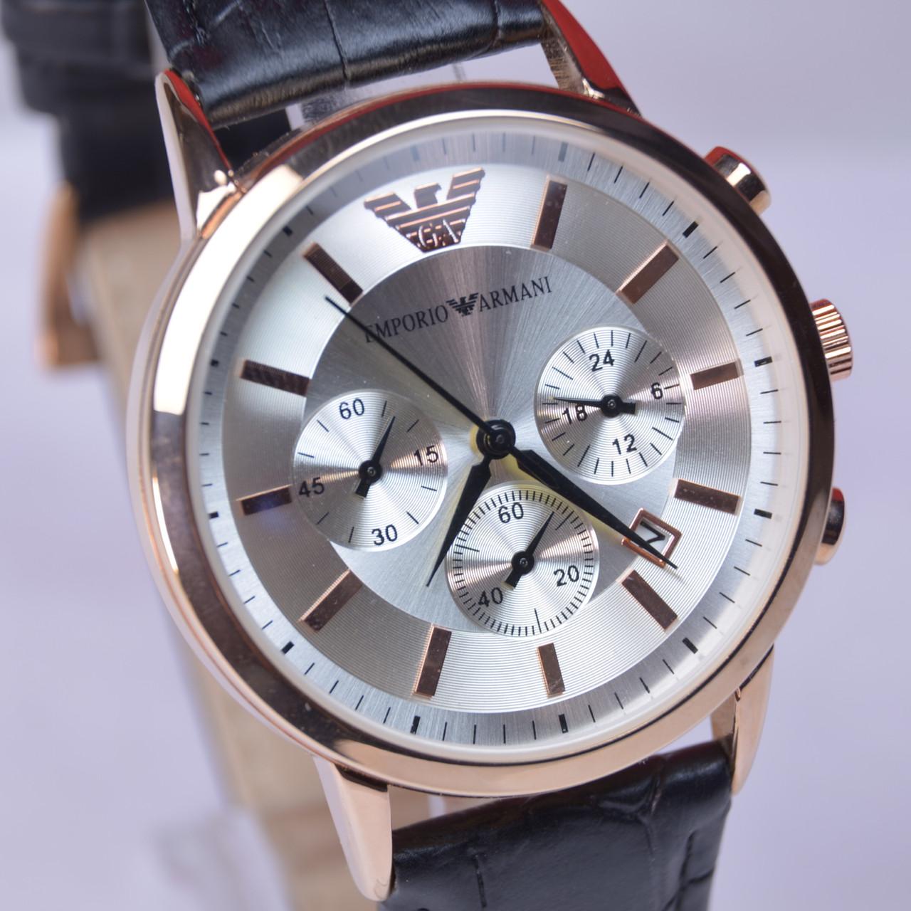 6855699e542d Мужские наручные часы Emporio Armani AR-249G Gold с хронографом (копия)