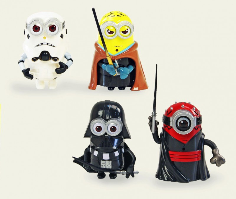 Игровой набор героев для мальчиков Набор героев Minions Star Wars Звездные войны - 4шт в коробке