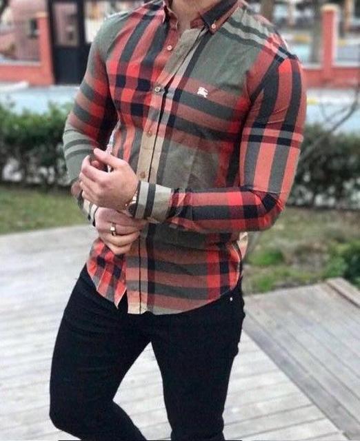 9c95db8779c8 Рубашка Мужская в Клетку BURBERRY 1009 — в Категории