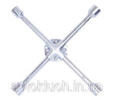 """Ключ баллонный крестовой, размер 17 х 19 х 21 х 1/2"""", 380 мм (усиленный) (Техник)"""