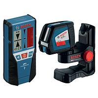 Линейный лазерный нивелир Bosch GLL 2-50 + BM1 + LR2 (L-boxx)