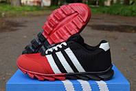 Кроссовки подростковые Adidas красно-черные КТ 1120