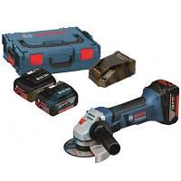Аккумуляторная угловая шлифмашина Bosch GWS 18 V-LI (L-boxx)