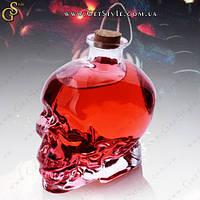 """Скляний графин - """"Crystal Skull"""" - 750 мл + оксамитовий чохол, фото 1"""