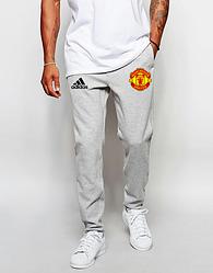 Спортивные штаны Adidas, Адидас, мужские, трикотажные, весна/осень,серого цвета, копия
