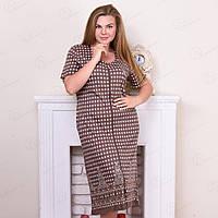 Халат женский на молнии с абстрактным узором Rukim Турция RKM-80484 10235106 (4 ед. в упаковке)