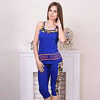 Комплект-двойка для дома женский: майка и бриджи с камуфляжными вставками Suxe Турция sks10092 10234973