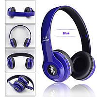 Беспроводные Bluetooth наушники P24 WIRELESS HEADPHONE (monster beats solo 2) c FM/ MP3/SD/микрофон, BLUE